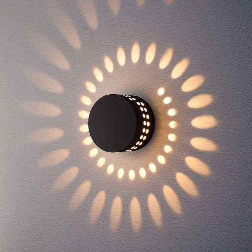 Arkada черный уличный настенный светодиодный светильник 1585 TECHNO LED Elektrostandard