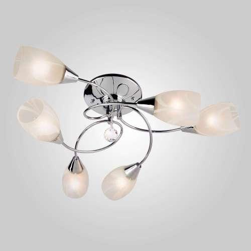 Светильник потолочный с белыми плафонами 2275/6 хром Eurosvet