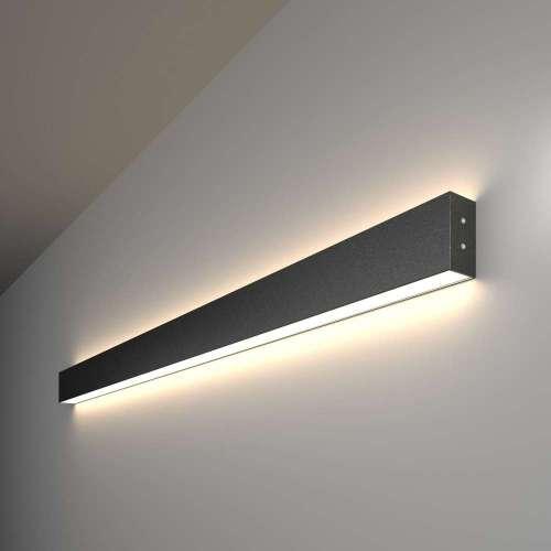 Линейный светодиодный накладной двусторонний светильник 103см 40Вт 4200К черная шагрень 100-100-40-103 Elektrostandard