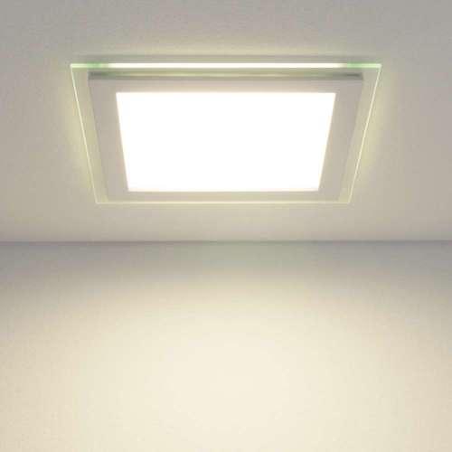 Встраиваемый потолочный светодиодный светильник DLKS200 18W 4200K белый Elektrostandard
