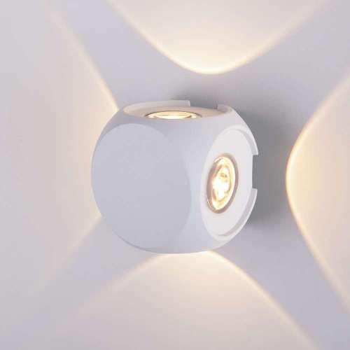 CUBE белый уличный настенный светодиодный светильник 1504 TECHNO LED Elektrostandard