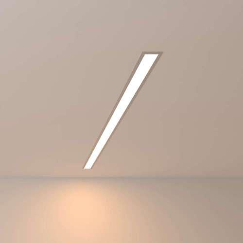 Линейный светодиодный встраиваемый светильник 103см 20Вт 3000К матовое серебро 101-300-103 Elektrostandard