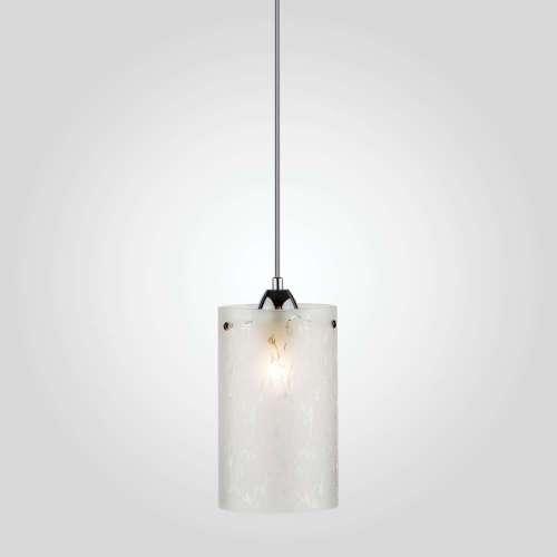 Подвесной светильник со стеклянным плафоном 1129/1 хром Eurosvet