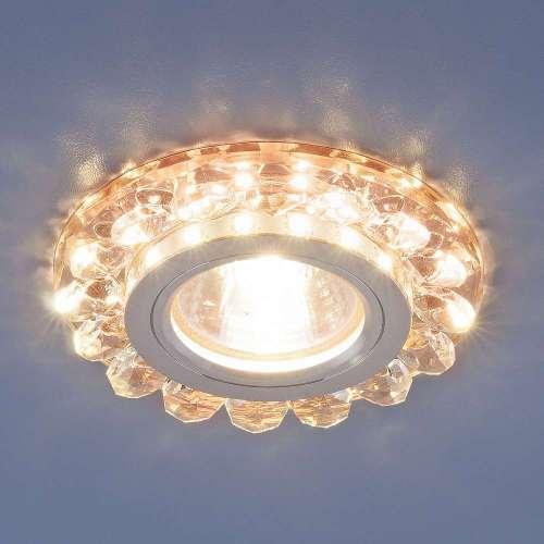 Точечный светодиодный светильник с хрусталем 6036 MR16 GD золото Elektrostandard