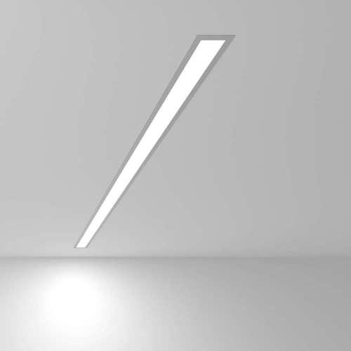 Линейный светодиодный встраиваемый светильник 128см 25Вт 6500К матовое серебро 101-300-128 Elektrostandard