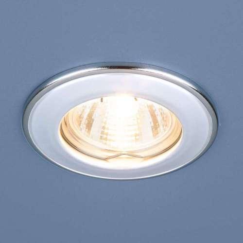 Точечный светильник                      7002 MR16 WH/SL белый/серебро Elektrostandard