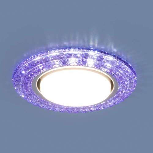 Точечный светильник со светодиодами 3030 GX53 VL фиолетовый Elektrostandard