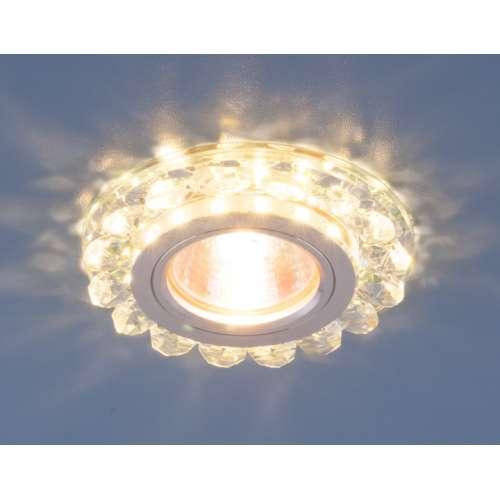 Точечный светодиодный светильник с хрусталем 6036 MR16 СL прозрачный Elektrostandard