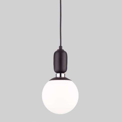 Подвесной светильник со стеклянным плафоном 50151/1 черный Eurosvet