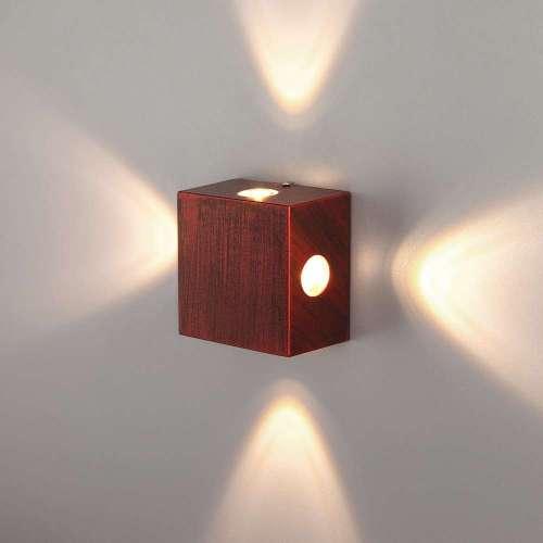 Kvatra красно-черный уличный настенный светодиодный светильник 1601 TECHNO LED Elektrostandard