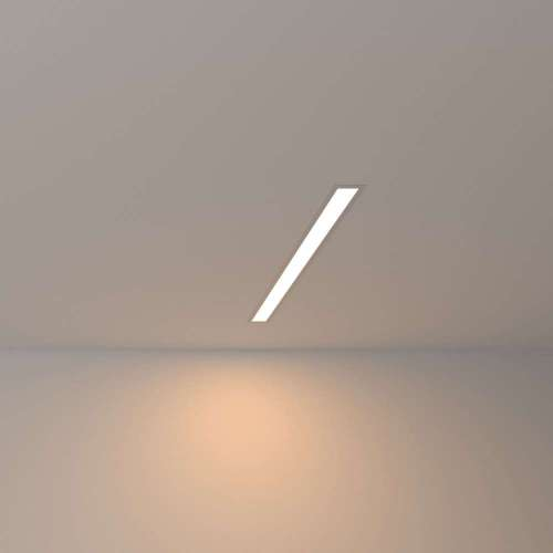 Линейный светодиодный встраиваемый светильник 53см 10Вт 3000К матовое серебро 100-300-53 Elektrostandard