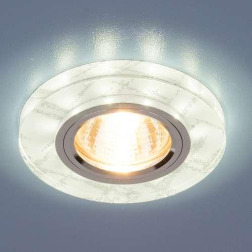 Точечный светильник светодиодный 8371 MR16 WH/SL белый/серебро Elektrostandard