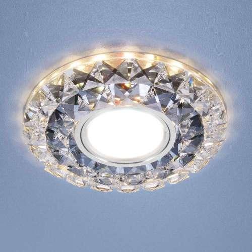 Встраиваемый точечный светильник со светодиодной подсветкой 2170 MR16 SBK CL дымчатый прозрачный Elektrostandard