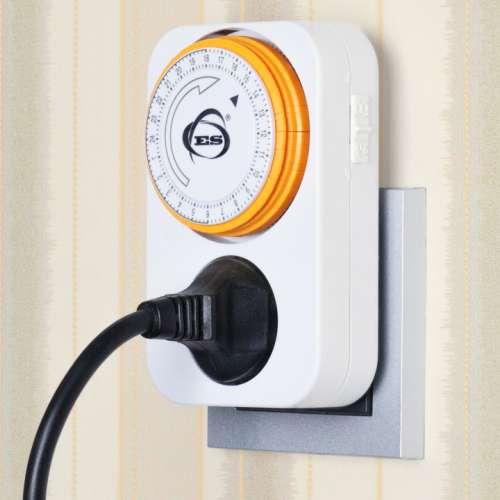 Розетка-таймер 16A x1 IP20 Белый TMH-M-1 Elektrostandard