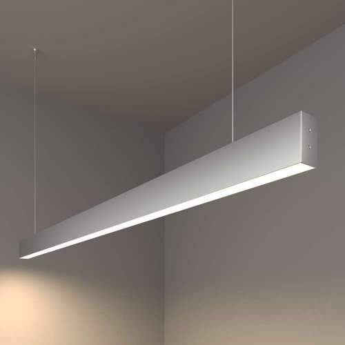 Линейный светодиодный подвесной односторонний светильник 128см 25Вт 4200К матовое серебро 100-200-40-128 Elektrostandard