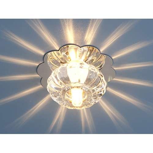 Точечный светильник                      847 G4 CH/CL хром/прозрачный Elektrostandard