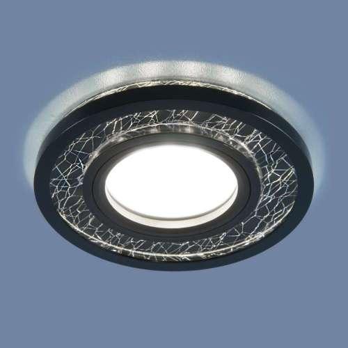 Точечный светодиодный светильник 7020 MR16 BK/SL черный/серебро Elektrostandard