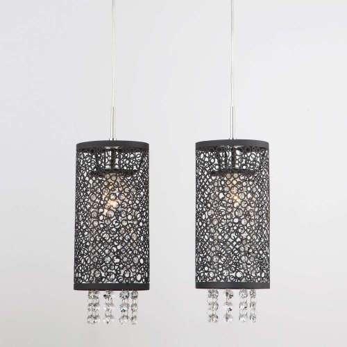 Подвесной светильник с хрусталем 1180/2 хром Eurosvet
