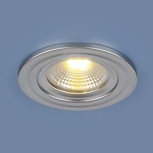 Встраиваемый точечный LED светильник                      9902 LED 3W COB SL серебро Elektrostandard