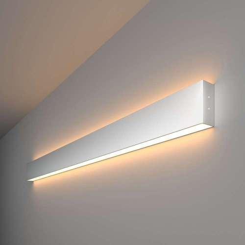 Линейный светодиодный накладной двусторонний светильник 103см 40Вт 3000К матовое серебро 101-100-40-103 Elektrostandard