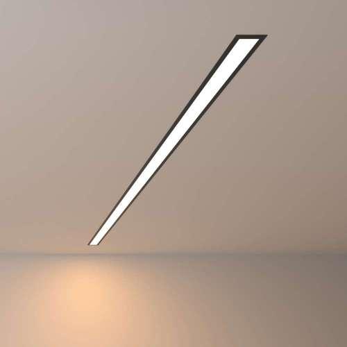 Линейный светодиодный встраиваемый светильник 128см 25Вт 3000К черный матовый 100-300-128 Elektrostandard