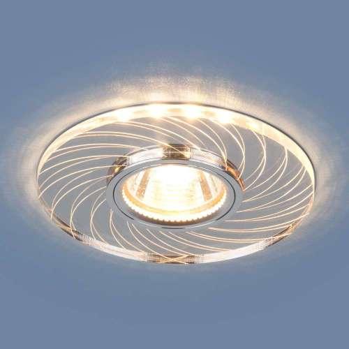 Встраиваемый точечный светильник с LED подсветкой                      2203 MR16 CL прозрачный Elektrostandard