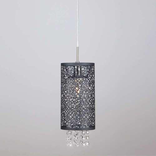 Подвесной светильник с хрусталем 1180/1 хром Eurosvet