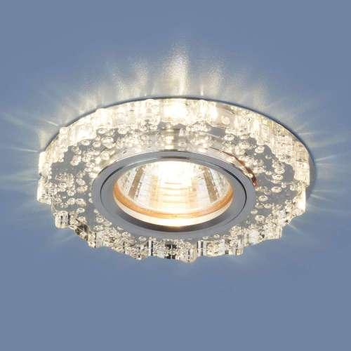 Встраиваемый точечный светильник с LED подсветкой                      2202 MR16 CL прозрачный Elektrostandard
