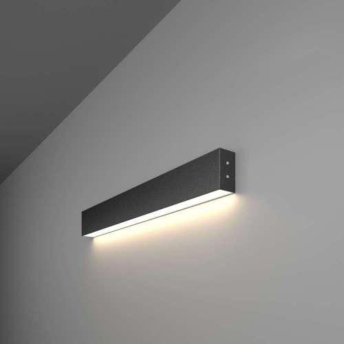 Линейный светодиодный накладной односторонний светильник 53см 10Вт 4200К черная шагрень LS-02-1-53-4200-MSh Elektrostandard