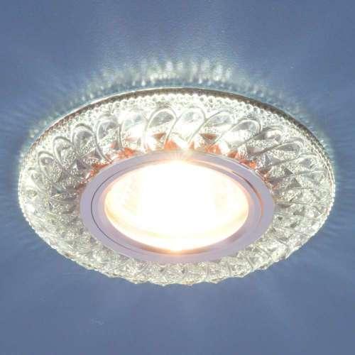 Встраиваемый точечный светильник со светодиодной подсветкой 2180 MR16 SB дымчатый Elektrostandard