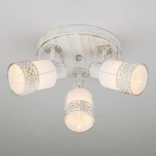 Потолочный светильник с поворотными плафонами 20026/3 белый с золотом Eurosvet