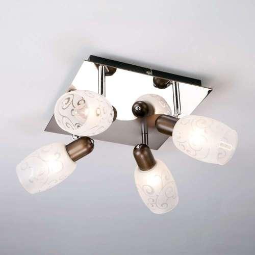 Потолочный светильник с поворотными плафонами 60301/4 хром/венге Eurosvet