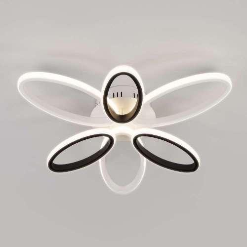 Светодиодный потолочный светильник с пультом управления 90137/6 белый/чёрный Eurosvet