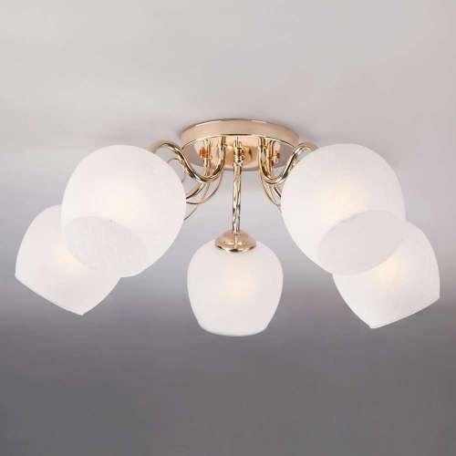 Потолочный светильник со стеклянными плафонами 30138/5 золото Eurosvet
