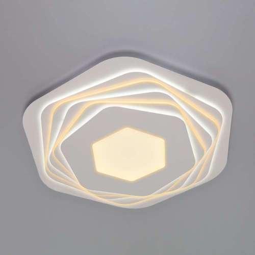 Светодиодный потолочный светильник с пультом управления 90153/6 белый Eurosvet