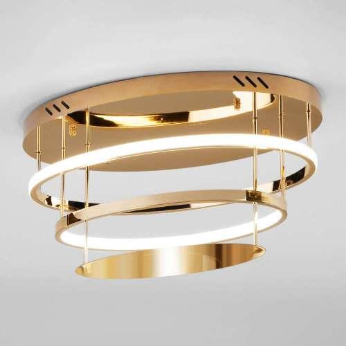 Потолочный светодиодный светильник с пультом управления 90160/2 золото Eurosvet