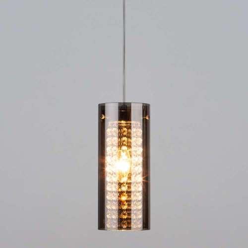 Подвесной светильник с хрусталем 1636/1 хром Eurosvet