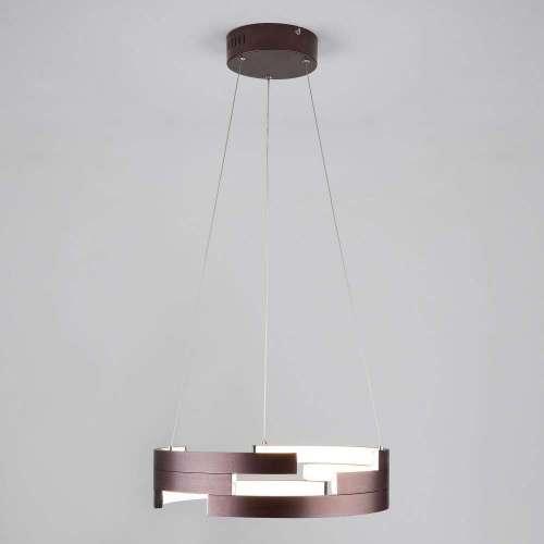 Подвесной LED светильник с ПДУ 90094/1 коричневый Eurosvet