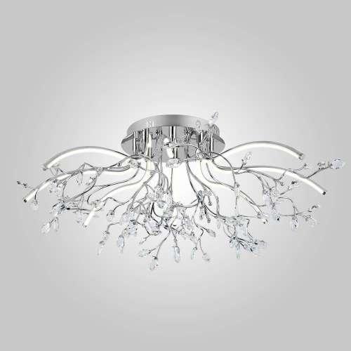 Хрустальная LED люстра 90036/8 хром Eurosvet