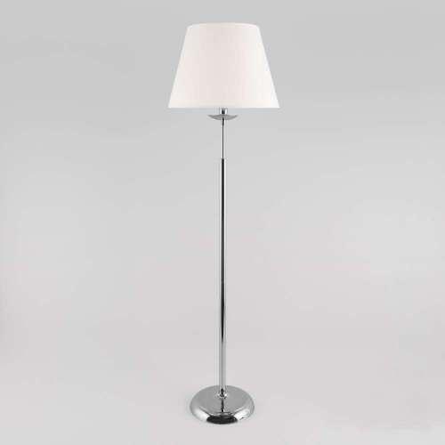 Напольный светильник с абажуром хром 01008/1 хром Eurosvet