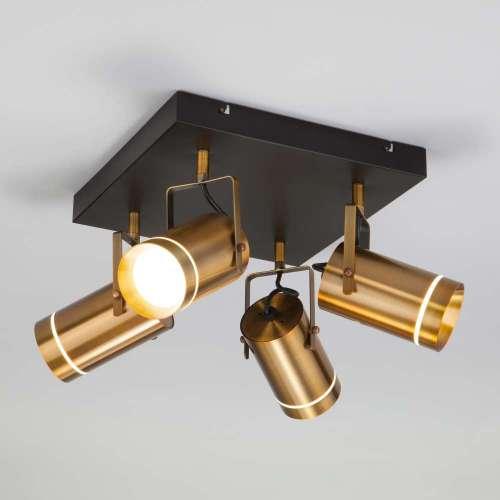 Потолочный светодиодный светильник с поворотными плафонами 20063/4 LED античная бронза Eurosvet