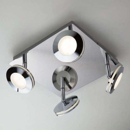 Светодиодный потолочный светильник с поворотными плафонами 20002/4 хром Eurosvet
