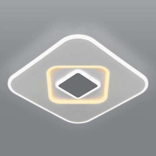 Потолочный светодиодный светильник с пультом управления 90218/1 белый/ серый Eurosvet
