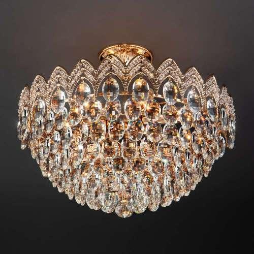 Люстра с хрусталем 3649/6 золото / прозрачный хрусталь Eurosvet