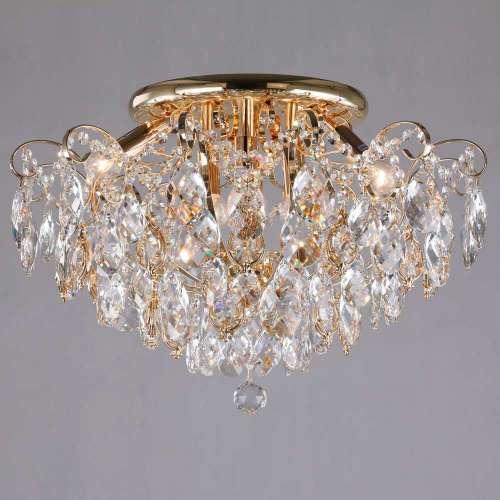 Потолочный светильник с хрустальным декором 10081/6 золото / прозрачный хрусталь Eurosvet