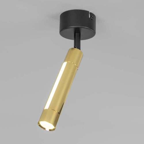 Настенно-потолочный светодиодный светильник 20084/1 LED черный/золото Eurosvet