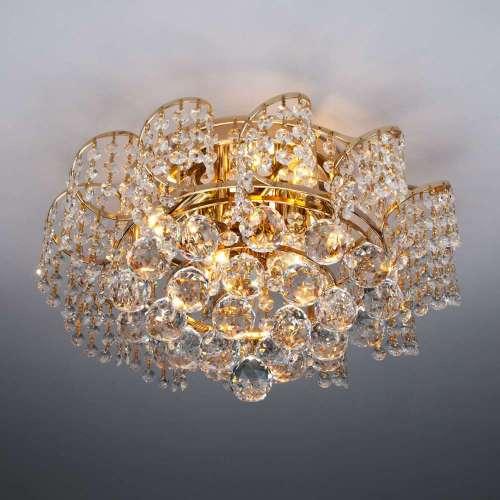 Люстра потолочная с хрустальным декором 16017/6 золото Eurosvet