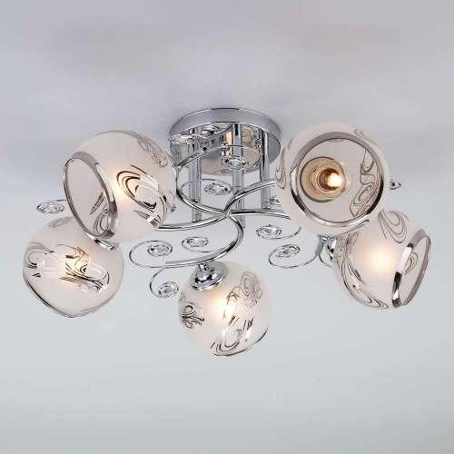 Потолочный светильник с плафонами 30031/5 хром Eurosvet
