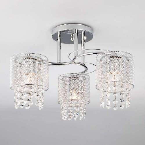 Потолочный светильник с металлическими плафонами 30137/3 хром Eurosvet